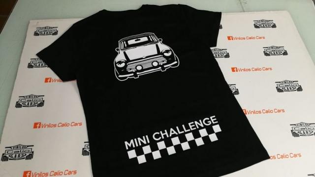 CAMISETA PERSONALIZADA MINI CHALLENGE VINILOS CALIO CARS