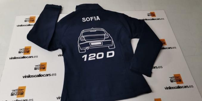 SOFT SHELL PERSONALIZADA BMW SERIE1 120D VINILOS CALIO CARS LOJA GRANADA