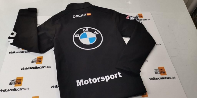 SOFT SHELL PERSONALIZADA BMW MOTORSPORT VINILOS CALIO CARS LOJA GRANADA