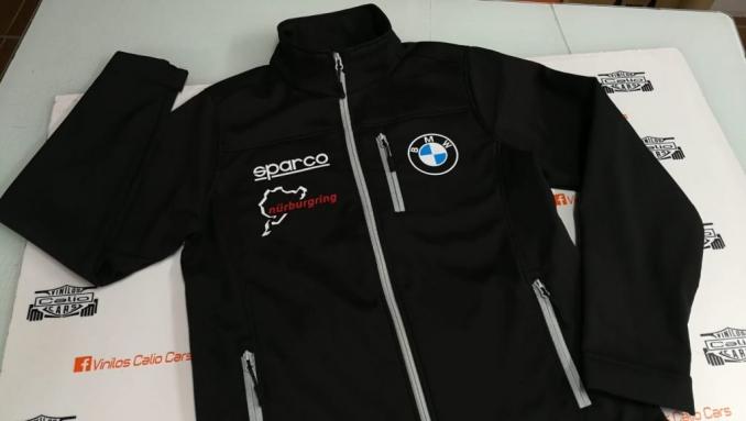 CHAQUETA SOFT SHELL BMW SPARCO NURBURGRING PERSONALIZADO VINILOS CALIO CARS LOJA GRANDA