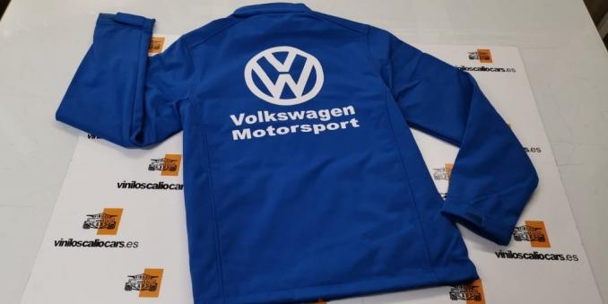 SOFT SHELL VOLKSWAGEN MOTORSPORTS PERSONALIZADA VINILOS CALIO CARS LOJA GRANADA