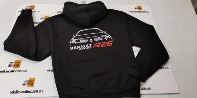 SUDADERA RENAULT SPORT R26 PERSONALIZADA VINILOS CALIO CARS LOJA GRANADA