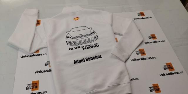 SUDADERA PERSONALIZADA VOLKSWAGEN CLUB SCIROCCO MADRID VINILOS CALIO CARS LOJA GRANADA