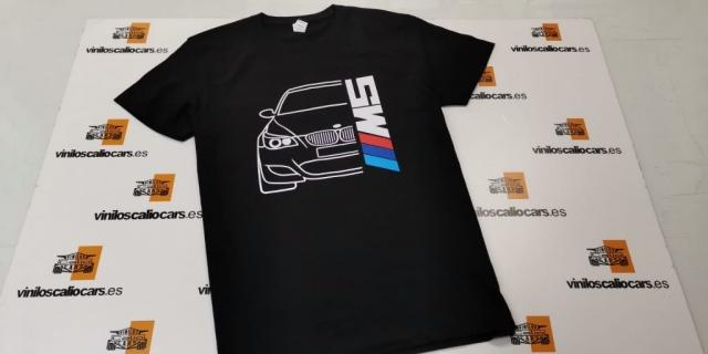 CAMISETA BMW M5 MOTORSPORT PERSONALIZADA VINILOS CALIO CARS LOJA GRANADA