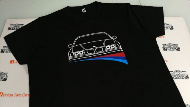 CAMISETA PERSONALIZADA BMW VINILOS CALIO CARS
