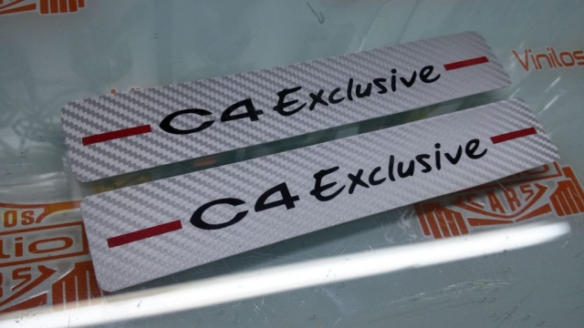 ESTRIBERAS PERSONALIZADAS CITROEN C4 EXCLUSIVE VINILOS CALIO CARS