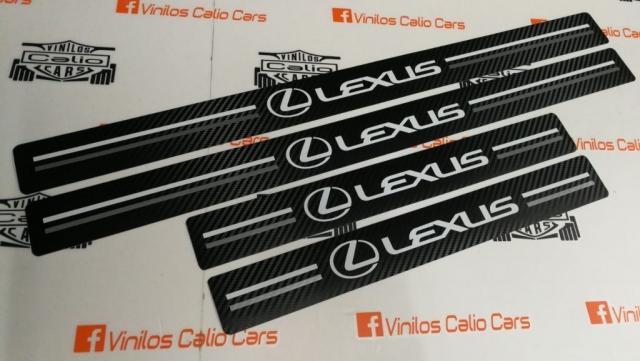 ESTRIBERAS PERSONALIZADAS LEXUS VINILOS CALIO CARS