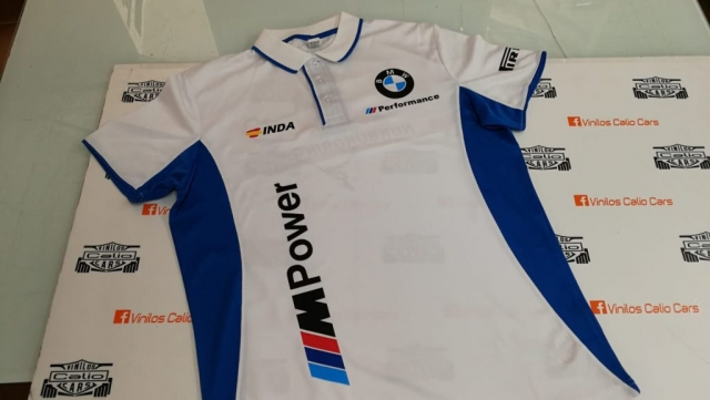 POLO TECNICO PERSONALIZADO BMW PERFORMANCE VINILOS CALIO CARS