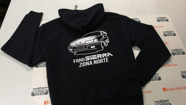 SUDADERA FORD SIERRA ZONA NORTE PERSONALIZADA VINILOS CALIO CARS LOJA GRANADA