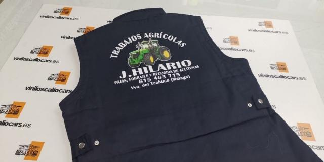 ROPA LABORAL PERSONALIZADA TRABAJOS AGRICOLAS J HILARIO VINILOS CALIO CARS LOJA GRANADA