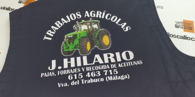 ROPA LABORAL PERSONALIZADA TRABAJOS AGRICOLAS J. HILARIO VINILOS CALIO CARS LOJA GRANADA