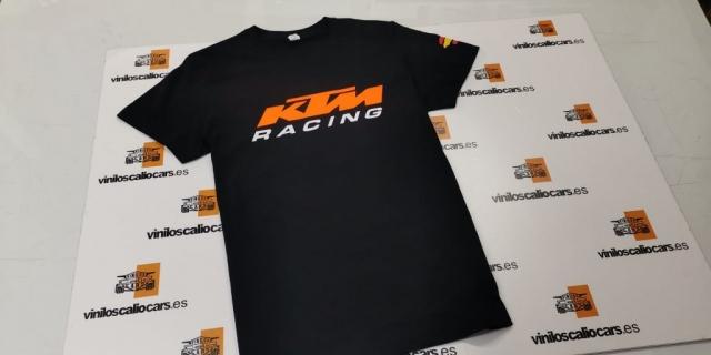 CAMISETA MOTOS KTM RACING PERSONALIZADA VINILOS CALIO CARS LOJA GRANADA
