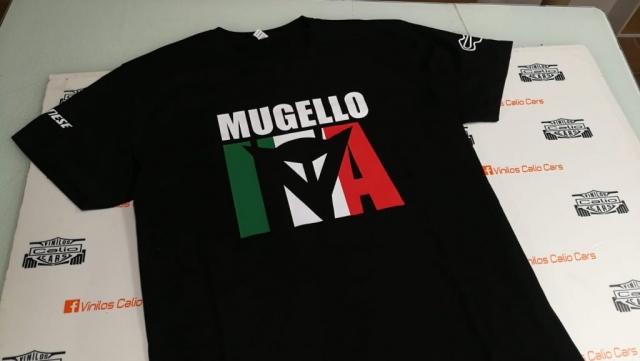 CAMISETA MUGELLO ITALIA DAINESSE PERSONALIZADA VINILOS CALIO CARS