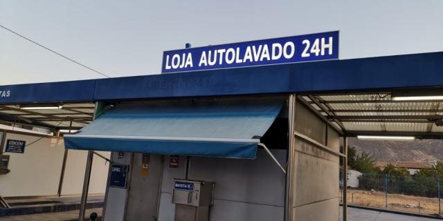 LUMINOSO VINILO CORTE LOJA AUTOLAVADO 24H VINILOS CALIO CARS LOJA GRANADA