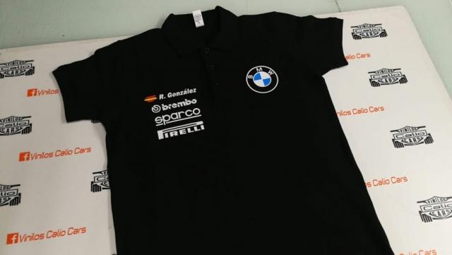 POLO PIQUE PERSONALIZADO BMW MARCAS VINILOS CALIO CARS
