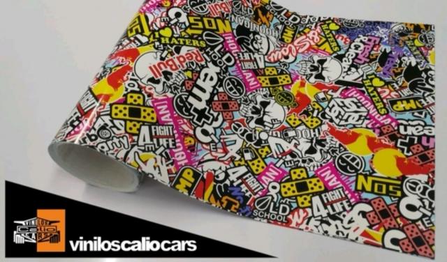 Vinilo hellaflush/sticker BOOM PERSONALIZADO VINILOS CALIO CARS  LOJA GRANADA