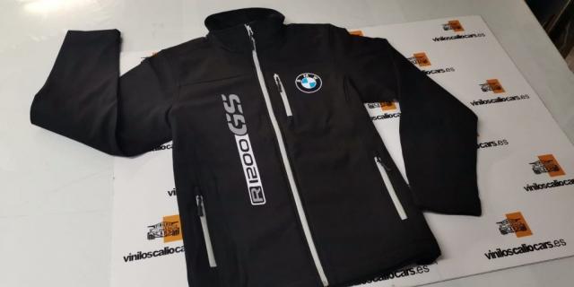 SOFT SHELL PERSONALIZADA MOTOS BMW R 1200 GS VINILOS CALIO CARS LOJA GRANADA