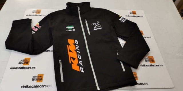 SOFT SHELL PERSONALIZADA KTM RACING VINILOS CALIO CARS LOJA GRANADA